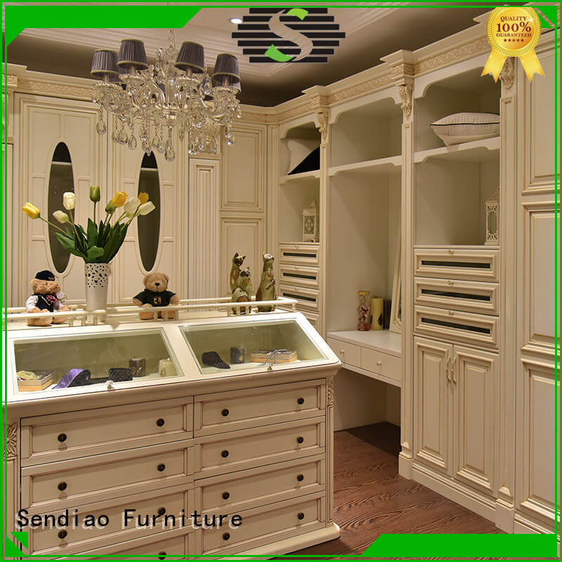 Sendiao Furniture wood solid wood wardrobes for business fivestar hotel