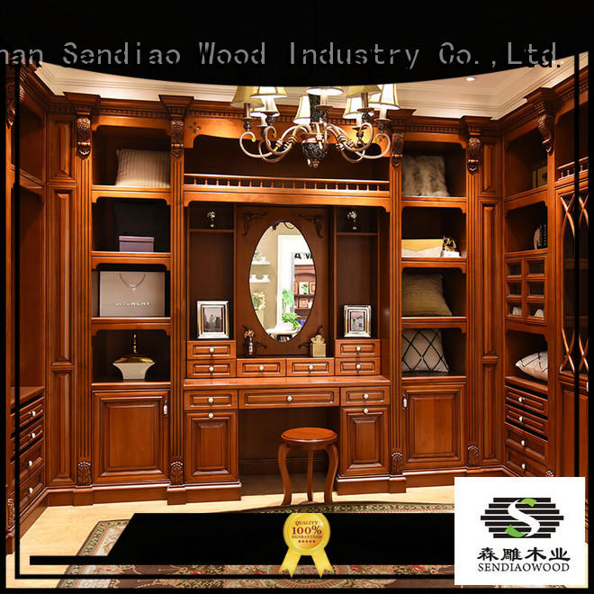 elegance wood armoire closet New products Exhibition hall Sendiao Furniture