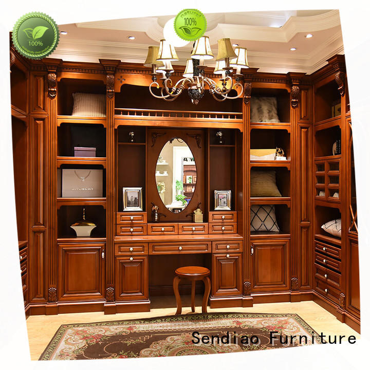 Sendiao Furniture luxury wooden wardrobe closet for business bedroom