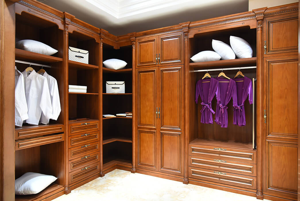bedroom solid wood wardrobes Promotion Three-star Hotel-3
