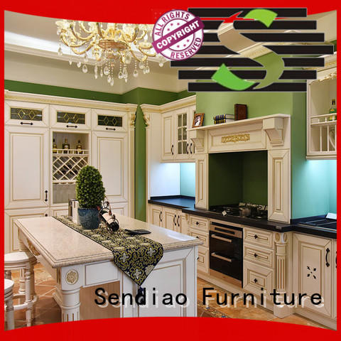 Sendiao Furniture Promotion solid wood kitchen cabinets freedom Bedroom
