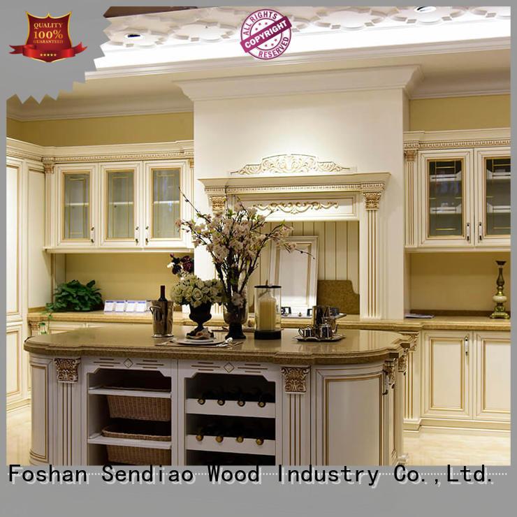 Sendiao Furniture classical bespoke kitchen cabinet supply three-star hotel