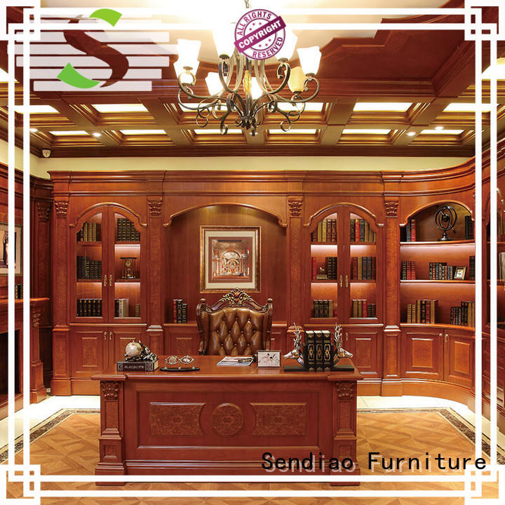 Sendiao Furniture Top wooden bookcase Supply bedroom