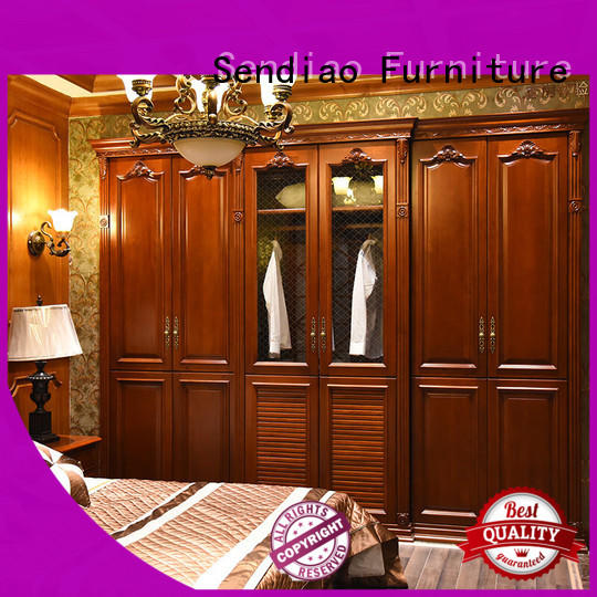 furniture wooden clothes closet classical Chateau Sendiao Furniture