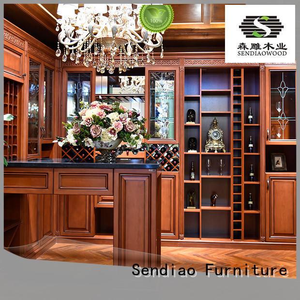 Sendiao Furniture Brand design antique custom white wine cabinet