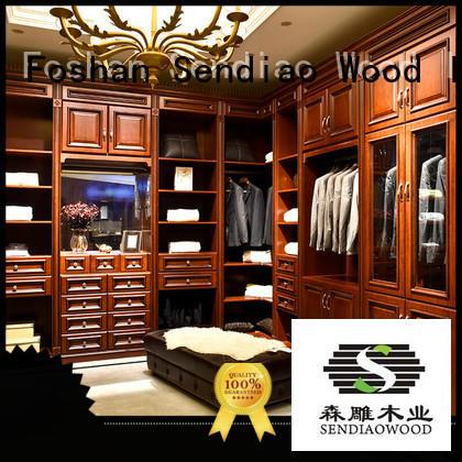 sdw02 wood wardrobe cabinet luxury Bedroom Sendiao Furniture