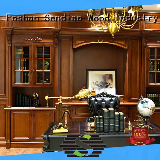 Sendiao Furniture American style wooden bookcase company exhibition hall