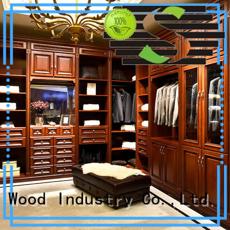 Sendiao Furniture American style wooden clothes wardrobe Promotion Fivestar Hotel