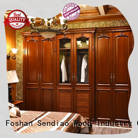 Sendiao Furniture cabinet cheap wooden wardrobe The latest generation Bedroom