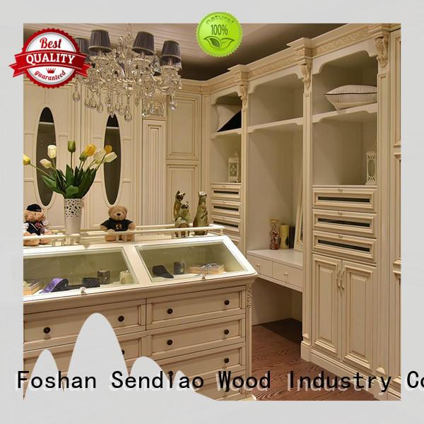 wooden clothes closet sdw04 Bedroom Sendiao Furniture