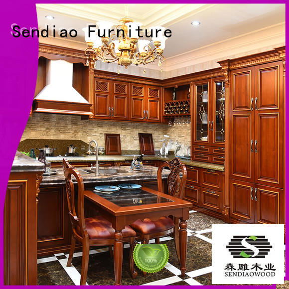 Simplicity laminate kitchen cabinets The latest generation Exhibition hall Sendiao Furniture
