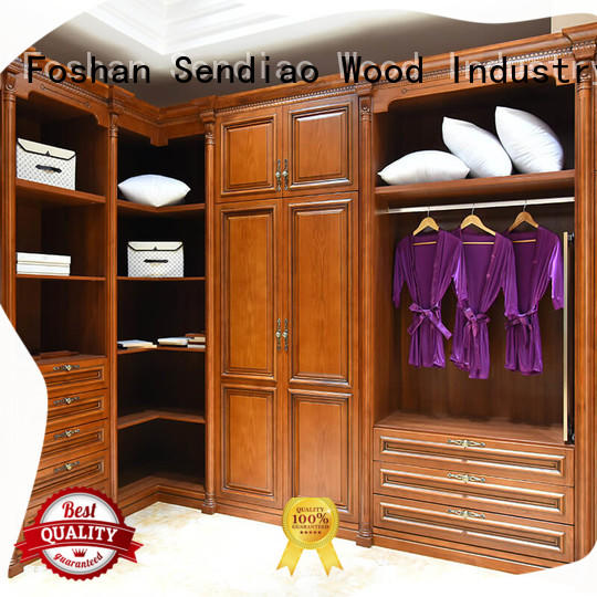 Sendiao Furniture New products solid wood wardrobes modular Three-star Hotel