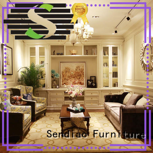 classical tall decorative storage cabinets elegance Four Star Hotel Sendiao Furniture