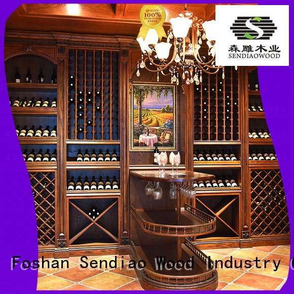 The latest generation wooden wine storage cabinets American style Exhibition hall Sendiao Furniture