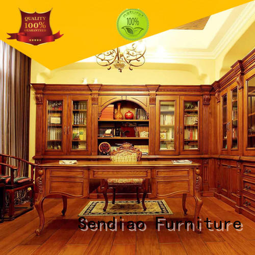 three solid wood bookcases American style Fivestar Hotel