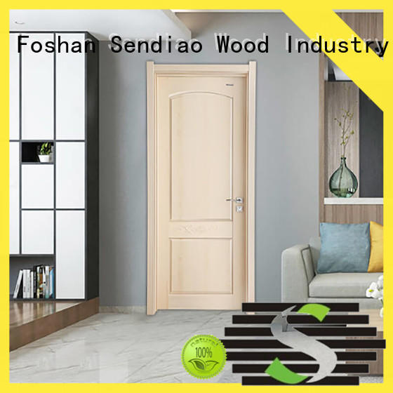 Sendiao Furniture American style interior wood doors design A living room