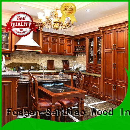 Sendiao Furniture American style bespoke kitchen cabinet solid Exhibition hall