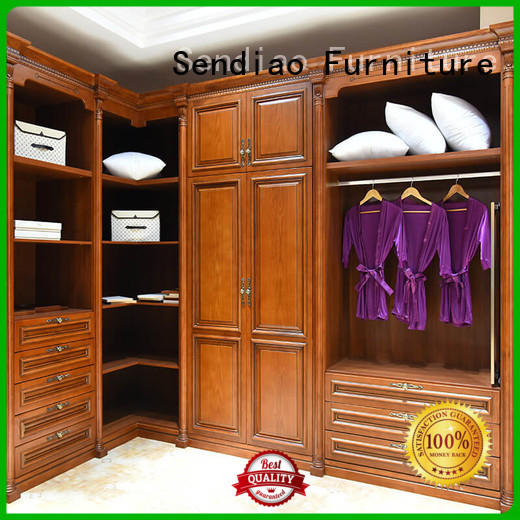 Latest solid wood wardrobes modular factory study