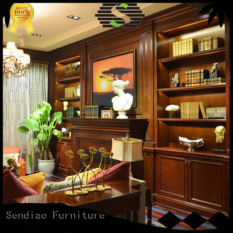 Sendiao Furniture wall decorative wooden cabinet for business fivestar hotel