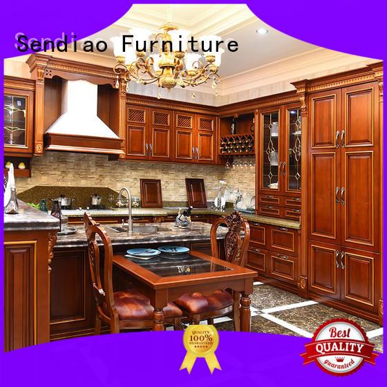 Sendiao Furniture modular wooden kitchen cupboards elegance Fivestar Hotel