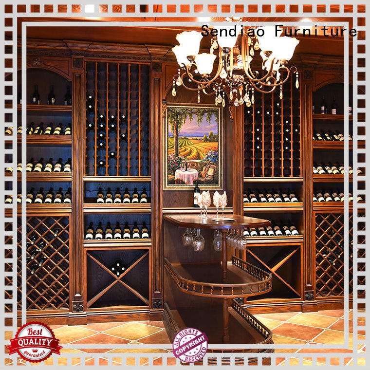 Sendiao Furniture elegance wooden wine storage cabinets classical Four Star Hotel