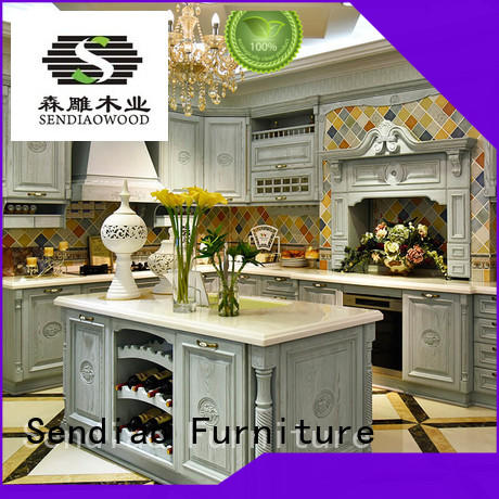 Sendiao Furniture Brand wood freedom style custom cherry kitchen cabinets