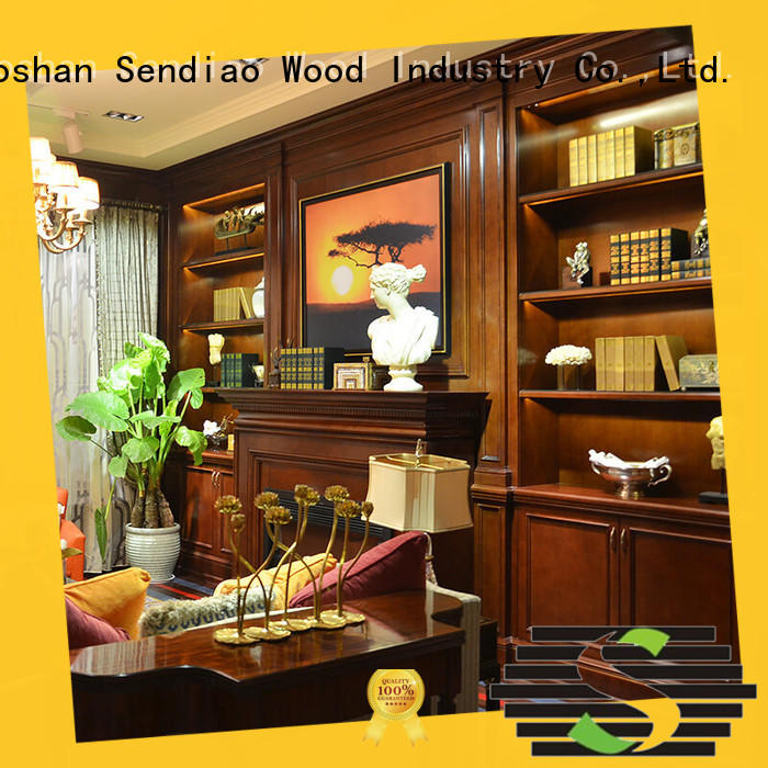 chinese modern wall OEM wood decorative cabinets Sendiao Furniture