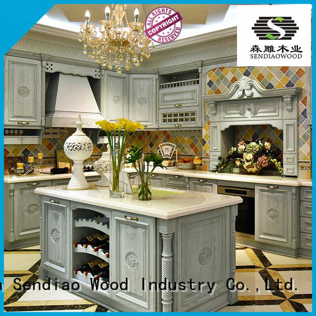 Sendiao Furniture sdk08 modular kitchen cabinets New products Three-star Hotel