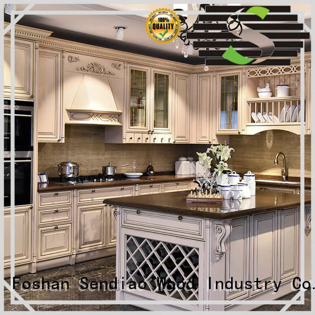 Sendiao Furniture french solid wood kitchen cabinets manufacturers three-star hotel