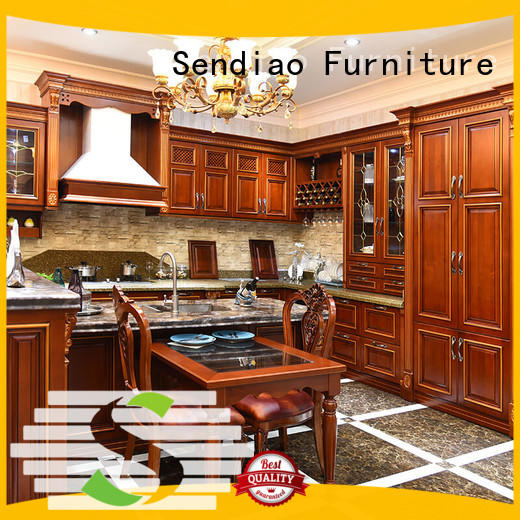 Custom real wood kitchen cabinets freedom for business fivestar hotel