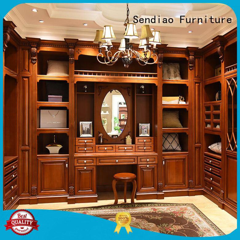 luxury wooden wardrobe closet The latest generation Three-star Hotel