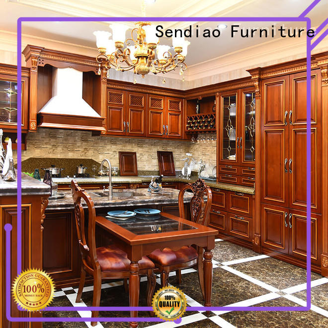 Sendiao Furniture The latest generation real wood kitchen cabinets suppliers fivestar hotel