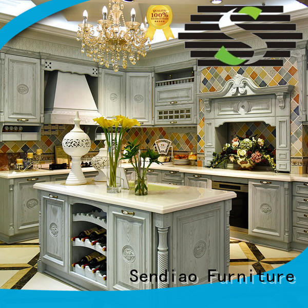 Sendiao Furniture elegance solid wood cupboard low price A living room