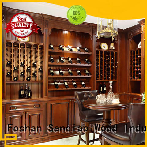 wine wood wine rack cabinet sdwi01 Three-star Hotel Sendiao Furniture