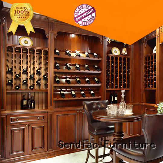 Wholesale wood wine cabinet red factory a living room