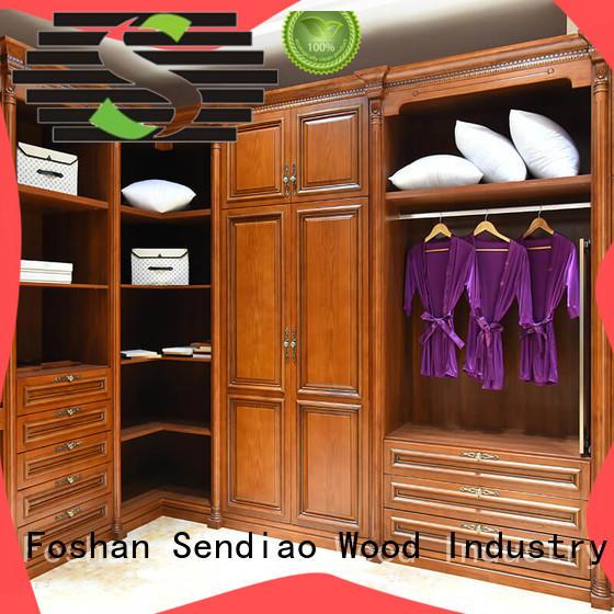 wardrobe solid wood wardrobes sdw02 Study Sendiao Furniture