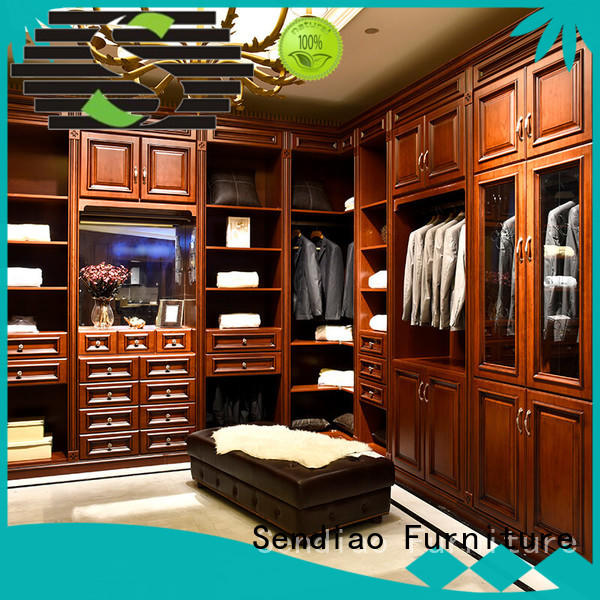 Sendiao Furniture Simplicity wooden clothes wardrobe The latest generation Fivestar Hotel