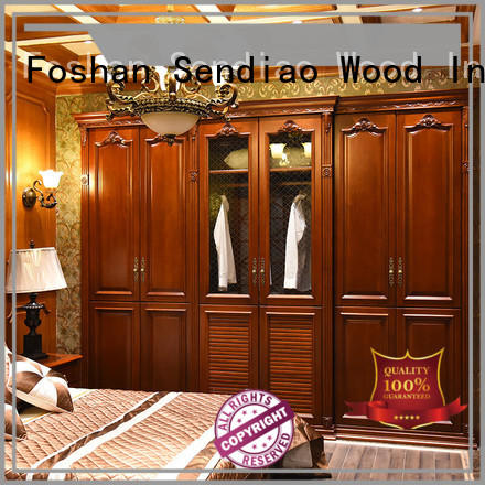 wooden cabinet for clothes bedroom Four Star Hotel Sendiao Furniture