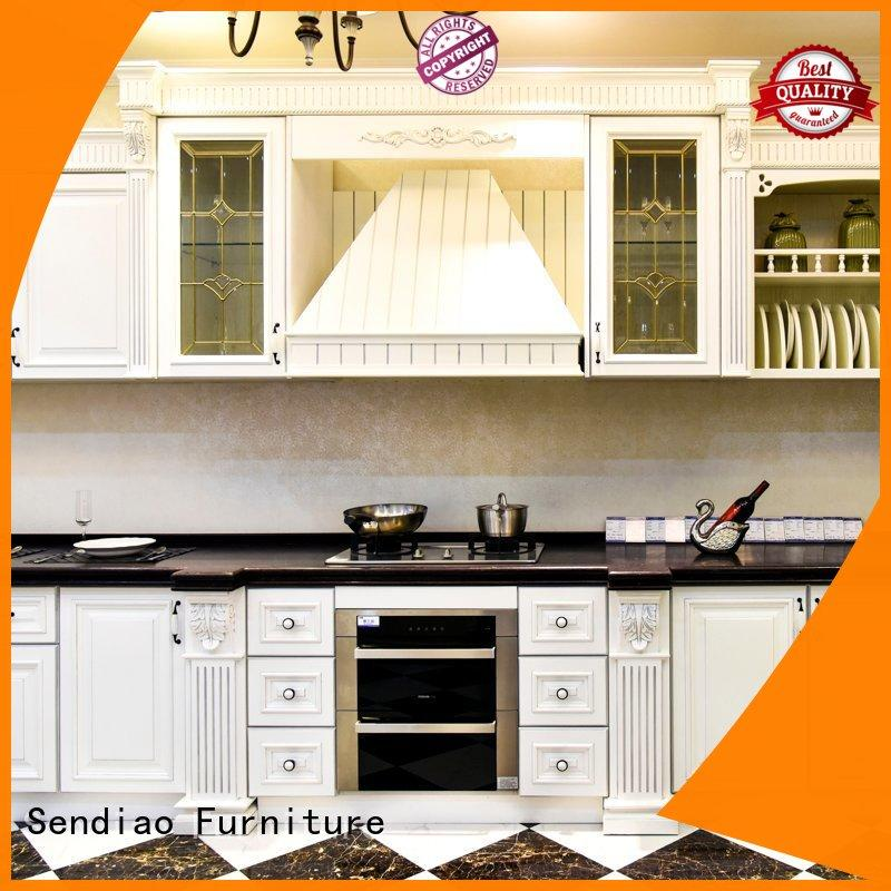 Sendiao Furniture American style solid wood kitchen cabinets American style Bedroom