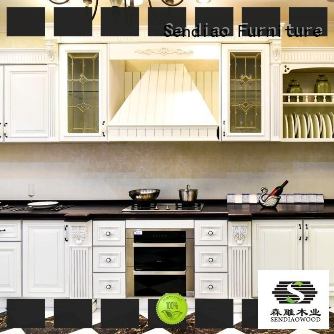 custom wood kitchen cabinets artificial Chateau Sendiao Furniture