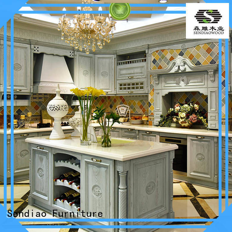 wooden cherry kitchen cabinets cabinets artificial Sendiao Furniture Brand