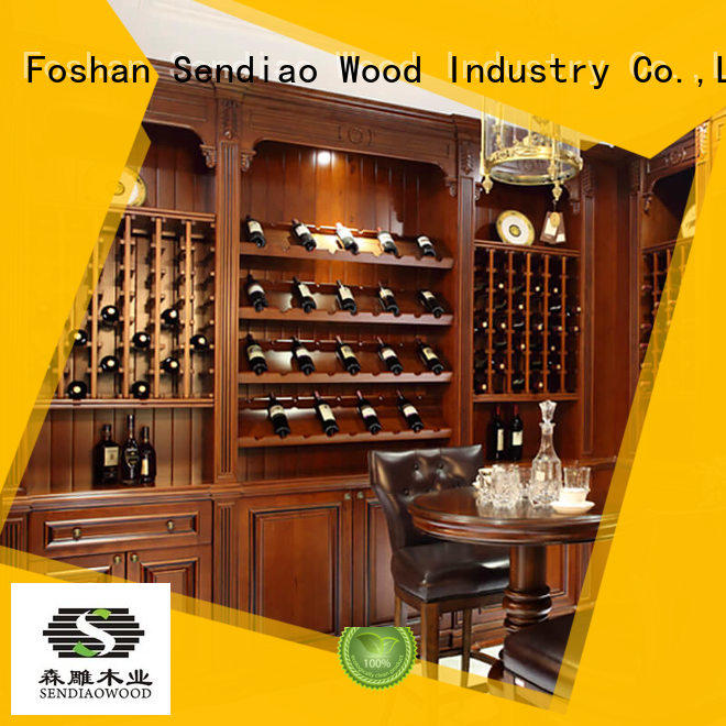 Sendiao Furniture New products wooden wine cabinets furniture sdwi02 A living room