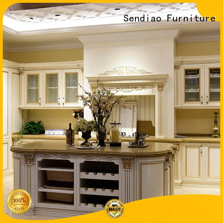 Promotion solid wood kitchen cupboards cabinets manufacturers exhibition hall