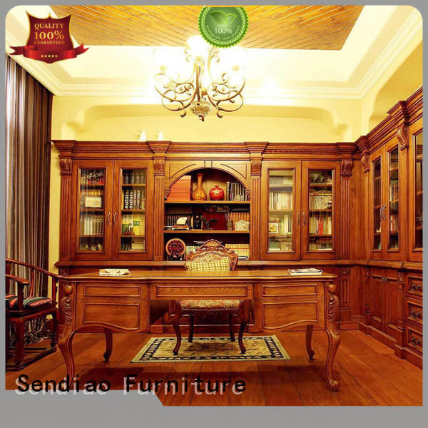 deluxe solid wood bookcases New products Fivestar Hotel Sendiao Furniture