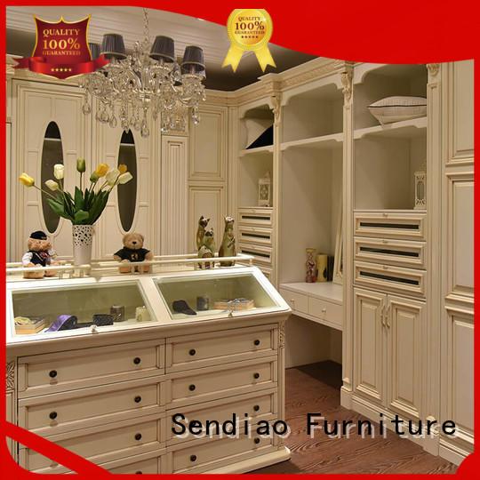 Sendiao Furniture Promotion wood armoire wardrobe low price Study