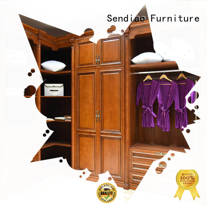 Sendiao Furniture wardrobe wooden clothes wardrobe company a living room
