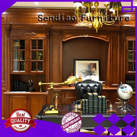 three solid wood bookcases elegance Three-star Hotel Sendiao Furniture