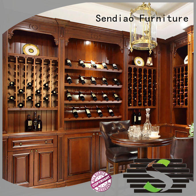 Sendiao Furniture low price wooden wine storage cabinets sdwi04 A living room