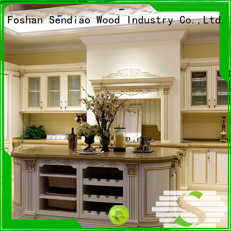 Sendiao Furniture sdk06 solid wood kitchen cupboards manufacturers study