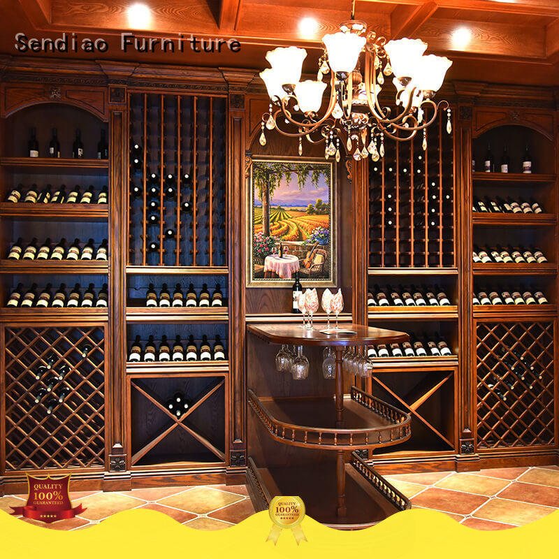Sendiao Furniture elegance solid wood wine cabinet antique Study
